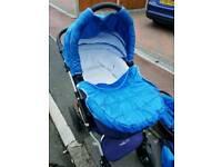 3-in-1 Infant baby pushchair, pram, stroller, car seat.