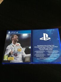 Fifa 18 ps4 + ultimate team rare players pack - original packed