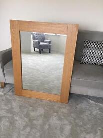 Pine Wood Frame Mirror