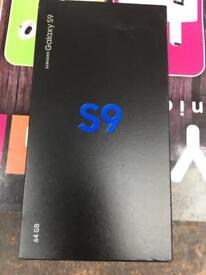 Samsung S9 new boxed unlocked 64gb with warranty