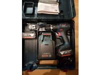 bosch professional combi drill 2x 4 amp batteries