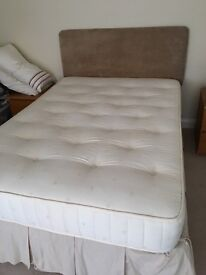 Double Bed for Sale - Base, Mattress/ Headboard (all or separate)