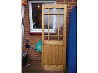 Interior door - Hardwood and glass