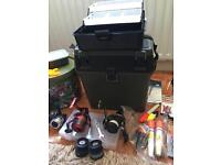 Large amount of sea fishing tackle and rods for sale