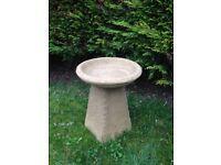 Old style garden bird bath Staddle stone £30