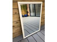 Large Bevelled Edge Mirror - Wooden painted frame