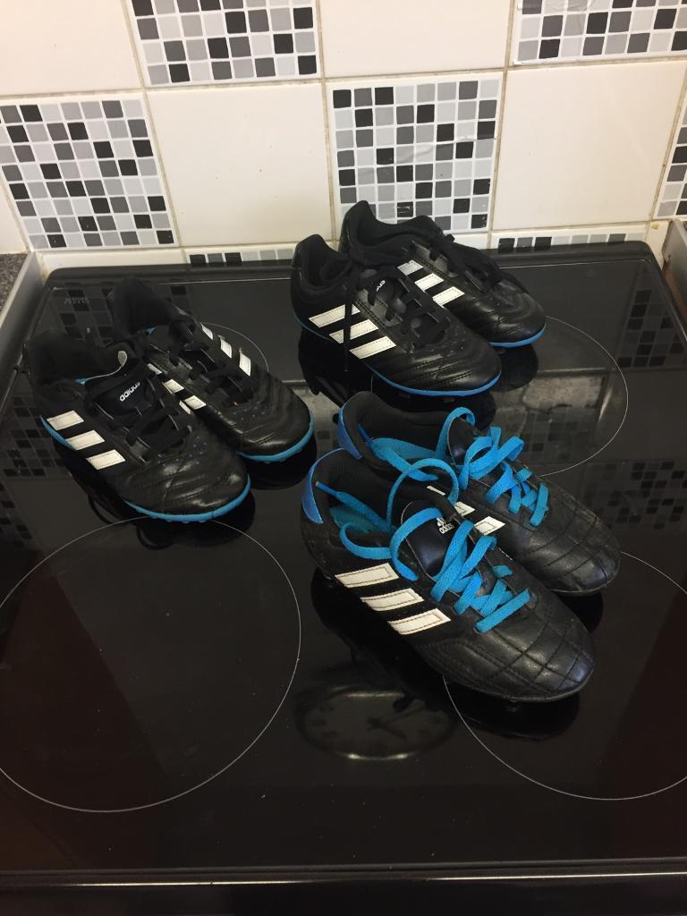 Kids size 12 football boots set