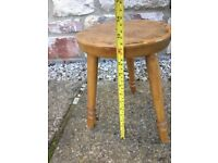 VINTAGE ANTIQUE RETRO* SOLID PINE WOOD LEAF CHAIR STOOL LAMP STAND