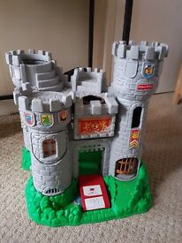 Vintage Fisher Price Great Adventure Castle 1994 with knights figures