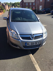 Vauxhall Zafira 1.9 2008 (58)Diesel Silver Low Milage Half Leather Seats Long MOT