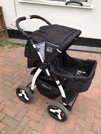 Pram Combi Stroller & Pushchair - Chilly Kids Jaguar 2 in 1