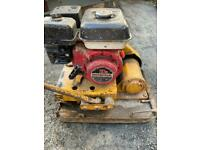 Honda 500mm commercial wacker plate vibrating rammer compactor water tank for tarmac PWO