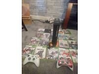 Xbox360 2 controls and 20 games, working great