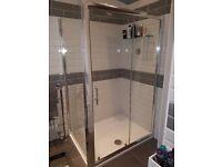 Brand New 1200 x 900 Reversible Shower Enclosure in original packaging