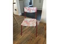 Upcycled children's girl's chair