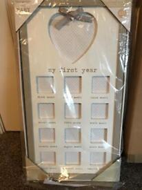 Brand new my first year photo frame Next