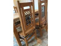 Solid wood Dining / Kitchen Table and 4 Chairs. Indian Rosewood.
