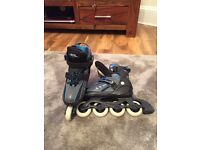 Nearly New in line Roller boots size 12 to 2 only £19.