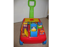 Fisher-Price Peek a Blocks 2 in 1 Activity Wagon - BEAUTIFUL CONDITION - BRIGHTLY COLOURED!