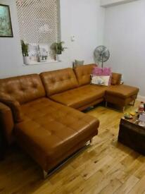 3 seater chaise sofa with footstall storarge
