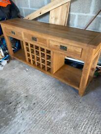 Large solid oak dresser