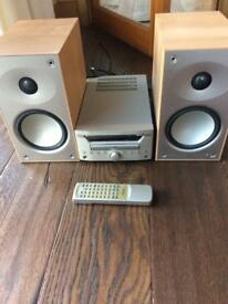 Teac cd radio amp and mordaunt short speakers