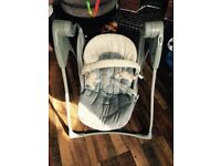 Graco baby swing battery operated swinging chair
