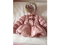 PINK PADDED / PUFFER COAT SIZE 3-4 FROM NEXT
