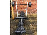 Weight bench with 6 5kg weights