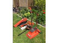 Lawn mower, strimmer, hedge cutter and garden vac for sale