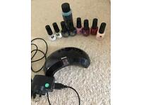 Red carpet Led lamp and starter nail kit with 4 colours