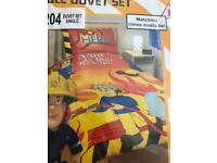 FIREMAN SAM SINGLE BED SET DUVET COVER BOYS GIRLS CHILD
