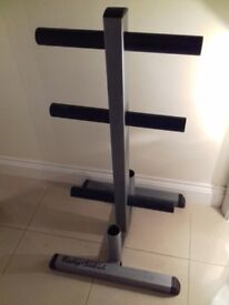 Body Solid Olympic Weight Tree with Bar Holders, Used but in good condition. £70 ONO