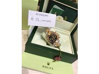 Men's Gold Steel & Black Rolex Daytona