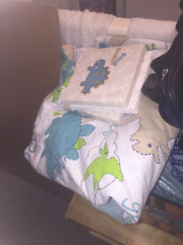 Dinosaur Duvet Covers x 2 - Tab Top Curtains - 3 small canvas pictures