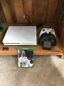 XBox One S 500gb bundle with 2 Remotes, Charger and Games