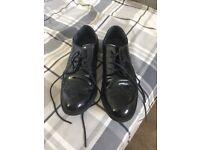 Start right black patton shoes size 2f