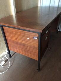 Large solid wooden desk