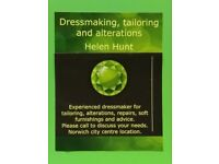 Dressmaking, alterations and tailoring