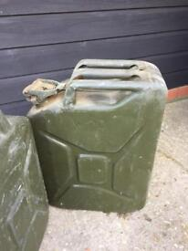 2 x Jerry Cans Ex WD