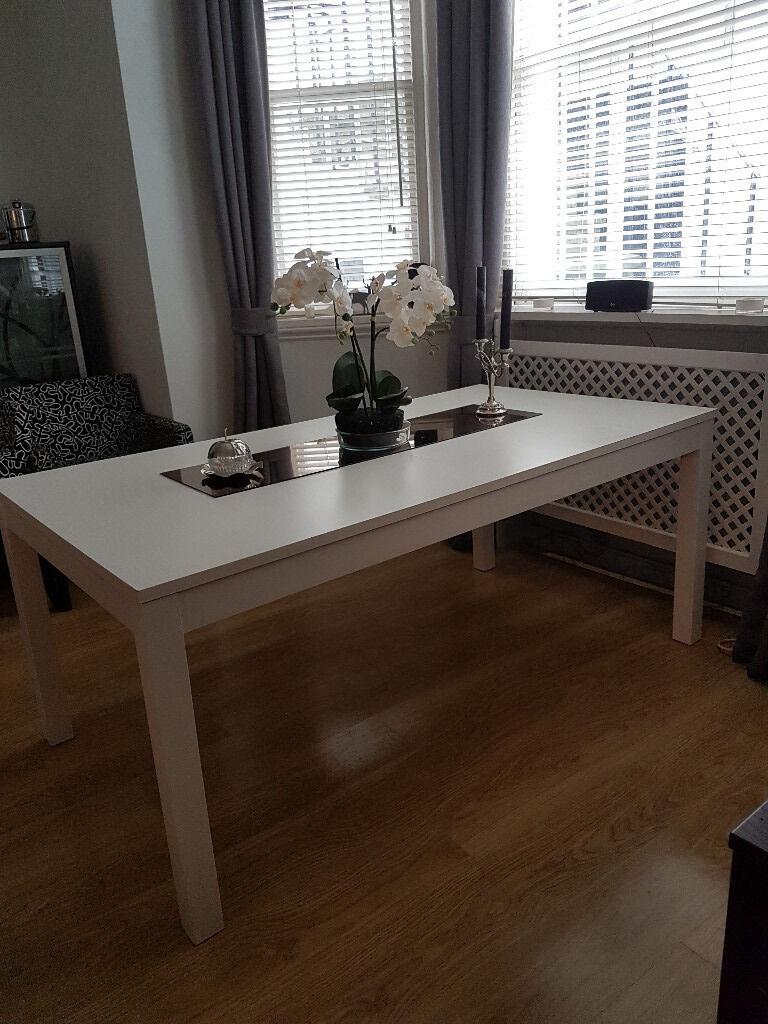 Ikea White Bjursta dining table 6 10 seater in Kensington