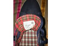 worn once - Fred Perry Kingston Twill Tipped Carbon Blue Mens Pump _size UK12