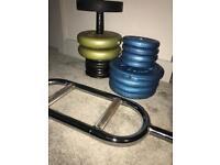 Gym weights & bar