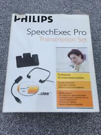 SpeechExec Pro Transcribe with Manuals, Pedal, Headphones & Licence Dongle