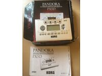 Korg Pandora px5d multi effects processor.