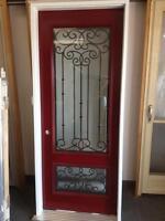 Steel Entrance Door with Iron Work
