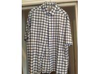 Men's m&s short sleeve shirt size L never worn