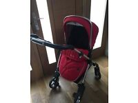Silver Cross Wayfarer (Chilli Red) Pushchair, Carrycot & Car Seat Adapters