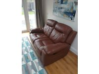 DFS 2seat leather recliner sofa - great condition
