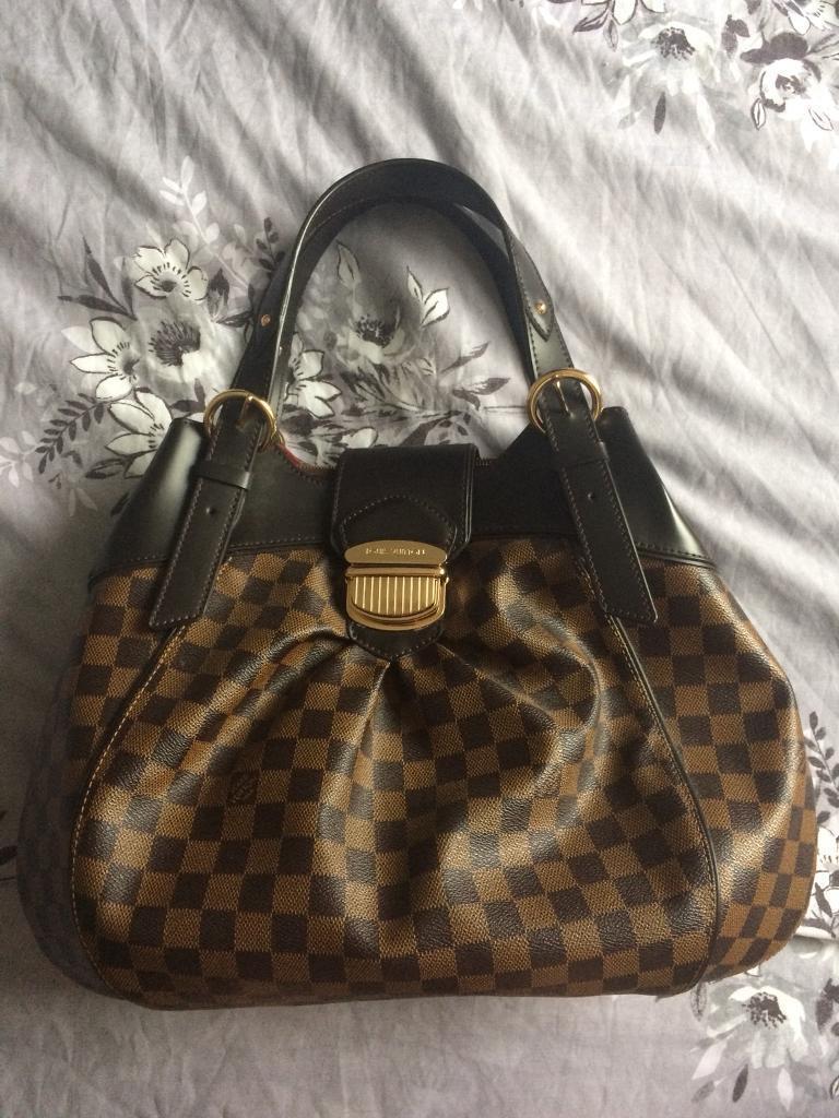 df2c4d9f7f6 Louis Vuitton genuine leather damier sistina gm bag